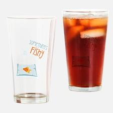 Somethings Fishy Drinking Glass