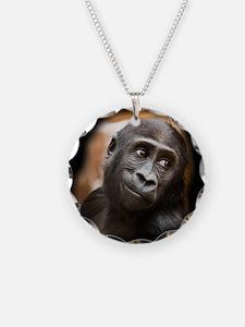 Smiling Gorilla Baby Necklace