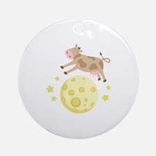 Cow Over Moon Ornament (Round)
