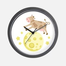Cow Over Moon Wall Clock