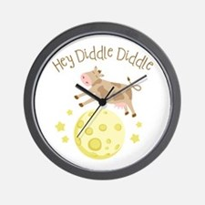 Hey Diddle Diddle Wall Clock