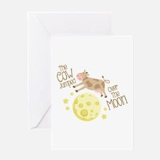 The Cow Jumped Over The Moon Greeting Cards