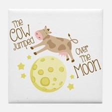 The Cow Jumped Over The Moon Tile Coaster