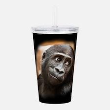 Smiling Gorilla Baby Acrylic Double-wall Tumbler