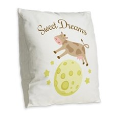 Sweet Dreams Burlap Throw Pillow