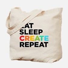 Eat Sleep Create Repeat Tote Bag