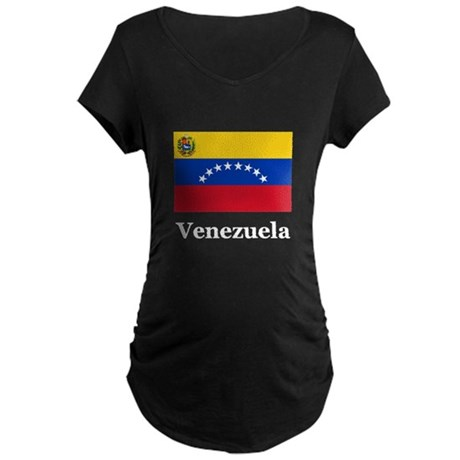 Venezuela Flag Maternity Dark T-Shirt