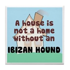 Ibizan Hound Home Tile Coaster