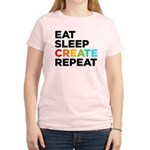 Eat Sleep Create Repeat Women's Light T-Shirt