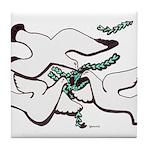 Peace Dove Trinity Tile Coaster