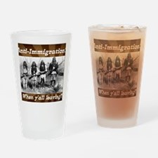 Cute Immigration Drinking Glass