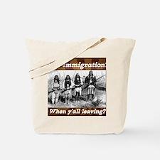 Funny Native america Tote Bag