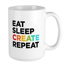 Eat Sleep Create Repeat MugMugs