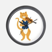 Fiddle Cat Wall Clock