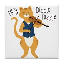 Hey Diddle Diddle Tile Coaster
