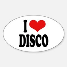I Love Disco Oval Decal