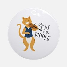 The Cat & The Fiddle Ornament (Round)