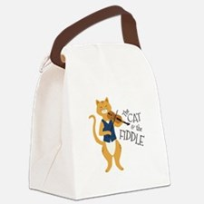 The Cat & The Fiddle Canvas Lunch Bag