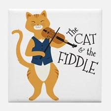 The Cat & The Fiddle Tile Coaster