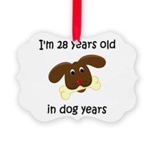 4 dog years 4 - 2 Ornament