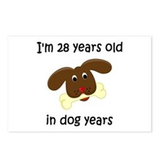 4 dog years 4 - 2 Postcards (Package of 8)