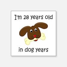 4 dog years 4 - 2 Sticker