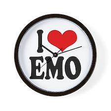 I Love Emo Wall Clock