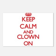 Keep Calm and Clown ON Postcards (Package of 8)