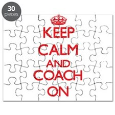 Keep Calm and Coach ON Puzzle
