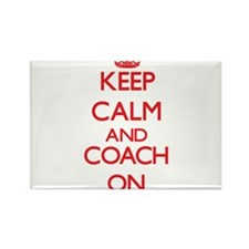 Keep Calm and Coach ON Magnets