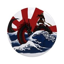 Ride the Dragon Ornament (Round)