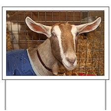 Smiling Goat farm animal Yard Sign