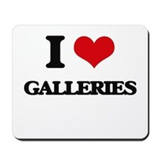 I Love Galleries Mousepad