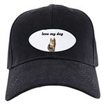 LOVE MY DOG (GERMAN SHEPARD) Black Cap