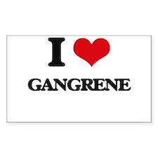 I Love Gangrene Decal