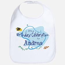 Celebration for Andrea (fish) Bib