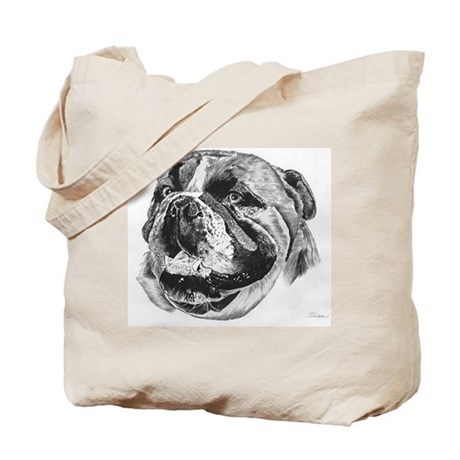 Bulldog Pencil Drawing Tote Bag