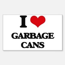 I Love Garbage Cans Decal