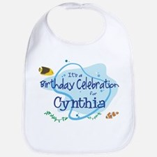 Celebration for Cynthia (fish Bib