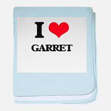 I Love Garret baby blanket