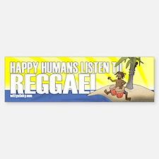Happy Humans Bumper Bumper Bumper Sticker