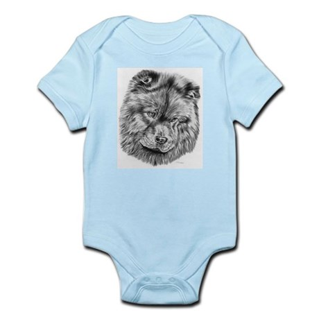 Chow Chow Pencil Drawing Infant Creeper