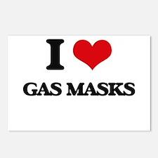 I Love Gas Masks Postcards (Package of 8)