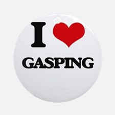 I Love Gasping Ornament (Round)