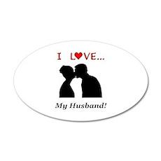 I Love My Husband 20x12 Oval Wall Decal
