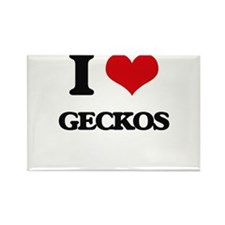 I Love Geckos Magnets