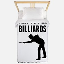 Born To Play Billiards Forced To Work Twin Duvet