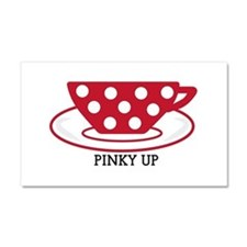 Pinky up Car Magnet 20 x 12