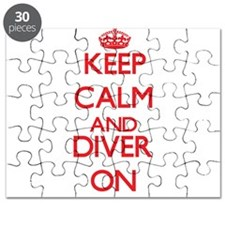 Keep Calm and Diver ON Puzzle