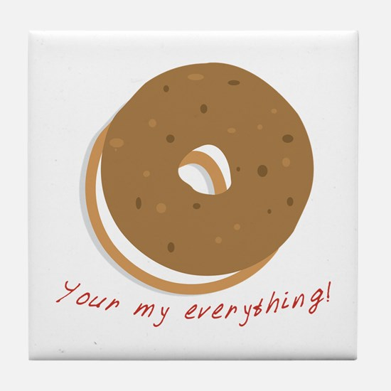 bagle_Your my everything! Tile Coaster